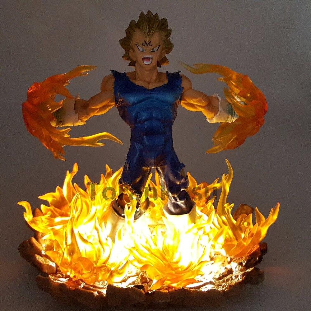 Dragon Ball Z Vegeta Super Saiyan Led Power light Effect PVC Action Figures 160mm Anime Dragon Ball Super Vegeta DBZ figure Toy