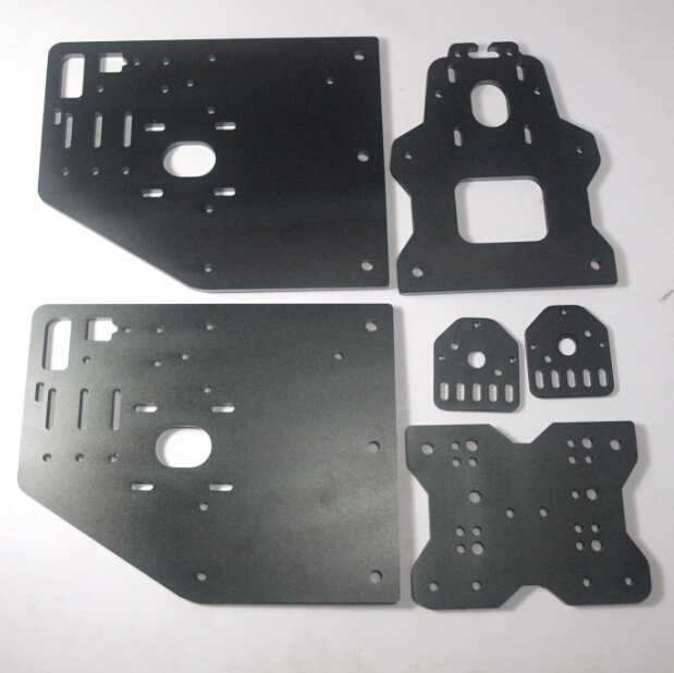 Funssor OX CNC machine parts X Axis Front Y Gantry X Axis motor threaded rod plate 6mm black color ox cnc machine parts openbuilds ox cnc aluminum gantry plates with universal threaded rod plates