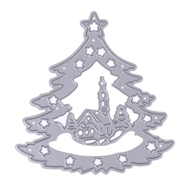 Weihnachtsbaum Metall.Us 1 7 14 Off Weihnachtsbaum Metall Stanzformen Schablonen Für Scrapbooking Stanzungen Prägung Ordner Papier Karte Stanzen Vorlage Handwerk Stirbt