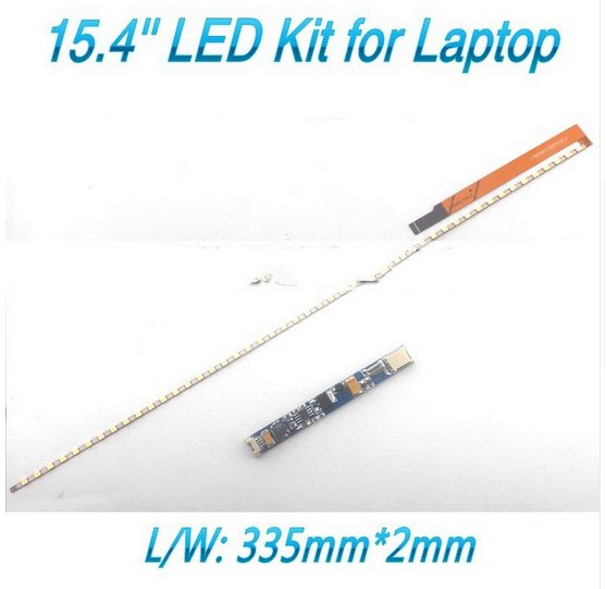 Universal 15.4 Inch LED Backlight Strip Update Dimable Kit Adjustable Brightness Lcd Laptop To LED335mm