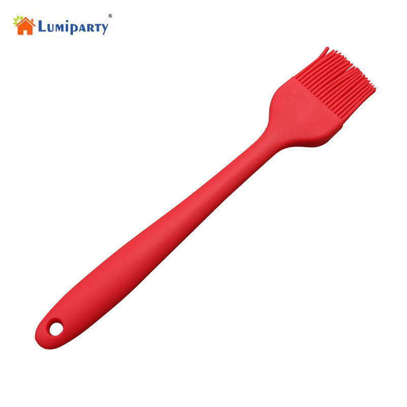 LanLan 7.8in Silicone Pastry Basting Grill Barbecue Brush - Solid Core and Hygienic Solid Coating