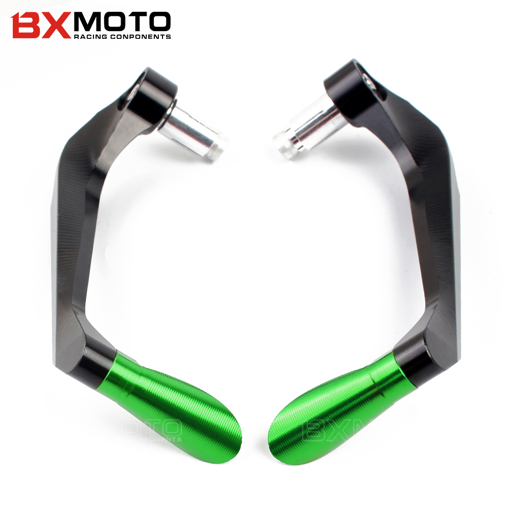 7/8 Motorbike proguard system brake clutch levers protect for Kawasaki Ninja ZX-6R 636 ZX-10R ZX-7R ZX-9R ZX12R Z900 Z1000 Z800 1 pair chrome flame shape motorcycle clutch brake hand levers for kawasaki zx 6r 2000 2004 billet aluminum motorbike brake parts