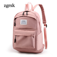 Women Laptop Backpack Famous Brand Classic None Zipper Oxford Nylon Black Casual School Bags For Teenagers EZ73 Travel Bookbags все цены