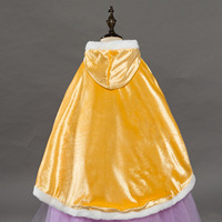 Children Sleeping Beauty Belle Party Kids Carnival Cosplay Clothing For 2 10Yrs Girls Cape Dress Up