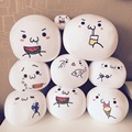 20CM Creative Kaomoji Bubble Dumpling Anime Face Pillow Plush Stuffed Doll Emoticon Expression Foam Toys Children Kids Gifts