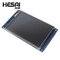 Eletrônica inteligente 3.5 polegada tft tela de toque lcd módulo display 320*480 com adaptador pcb para arduino kit diy