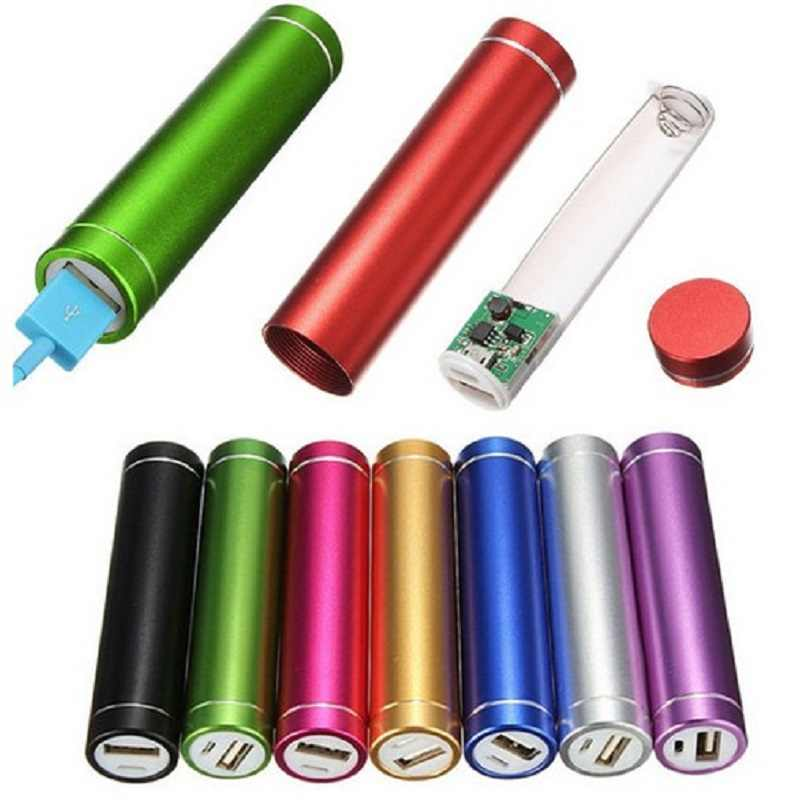 Portable Multicolor USB 5V/1A Power Bank Case 18650 Suite Battery External DIY Charge Box Kit Universal Cell Phones Free Welding