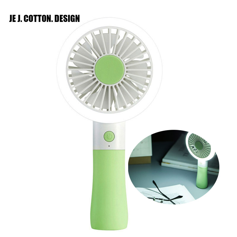 1200MA Rechargeable USB Fan with LED Fill Light Table Handheld Small Fan Air Conditioning LED Flash Fill Lights for Home Outdoor handheld cartoon mini fan usb portable fan for home outdoor desk rechargeable air conditioner with 1200ma rechargeable battery