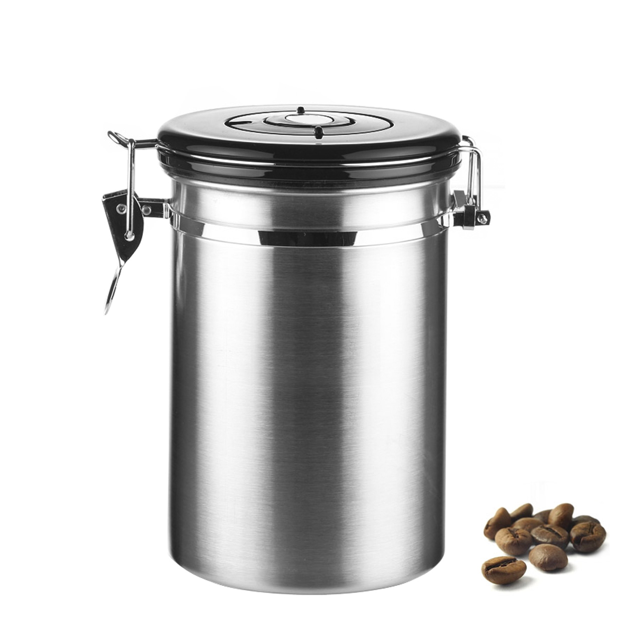 popular metal kitchen canisters buy cheap metal kitchen canisters 1l coffee tea sugar storage tanks sealed cans 18 8 stainless steel canisters kitchen storage
