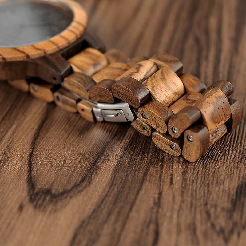 Image 5 - BOBO oiseau zèbre bois montres pour hommes japon mouvement montre bracelet à Quartz avec nous RU entrepôt doutre mer relogio masculino V D30-in Montres à quartz from Montres on AliExpress