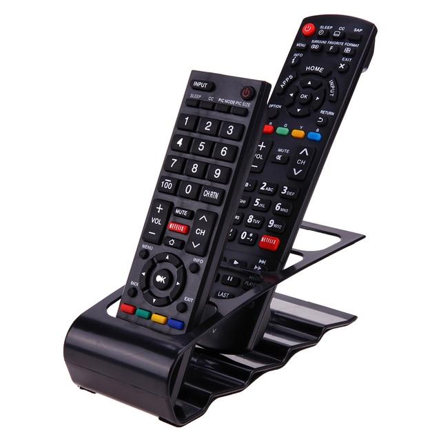 4 Cell TV DVD Remote Control Holder Desktop Phone Organizer Plastic Shelf  Stand Storage Racks For