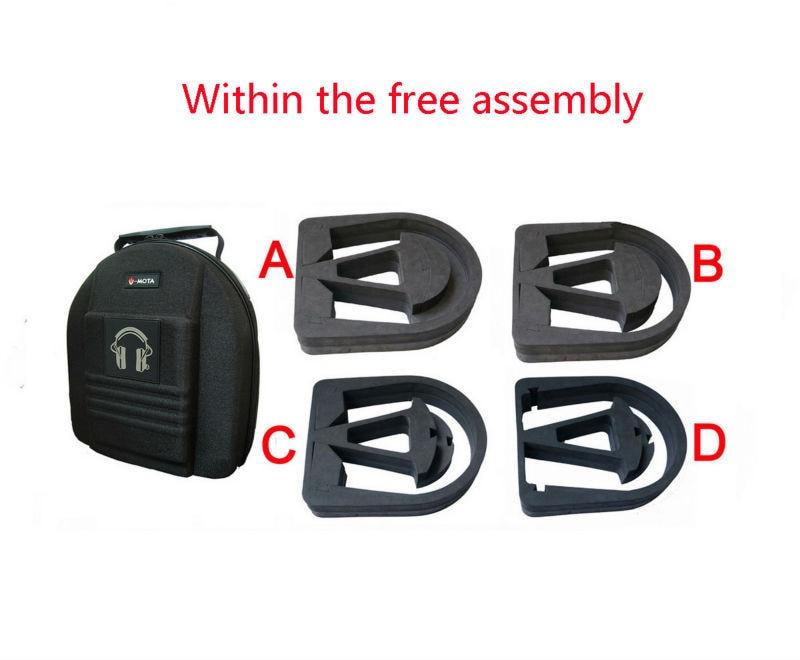V-MOTA TDC Headset Membawa kotak kes Untuk Audeze LCD-2 LCD4 LCD3 - Audio dan video mudah alih - Foto 2