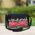 2015 national embroidery embroidered bag retro canvas shoulder bag lady small Messenger Bag Travel clutch handbag