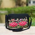 2015 national embroidery embroidered bag retro canvas shoulder bag lady small Messenger Bag Travel clutch handbag