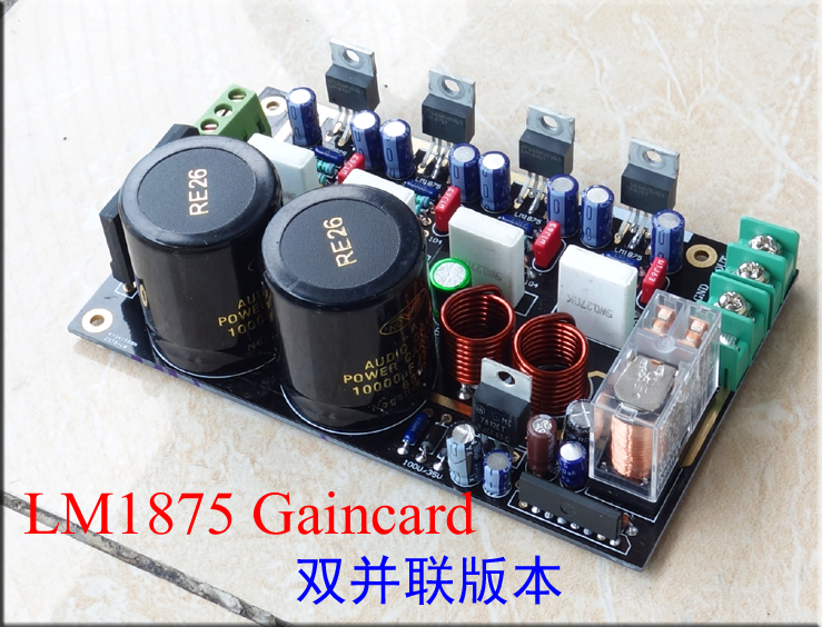 US $27 45 |Gaincard LM1875 X4pcs parallel 25W+25W 8A Stereo amplifier kit  AC22V 0 22V Speaker protected-in Amplifier from Consumer Electronics on