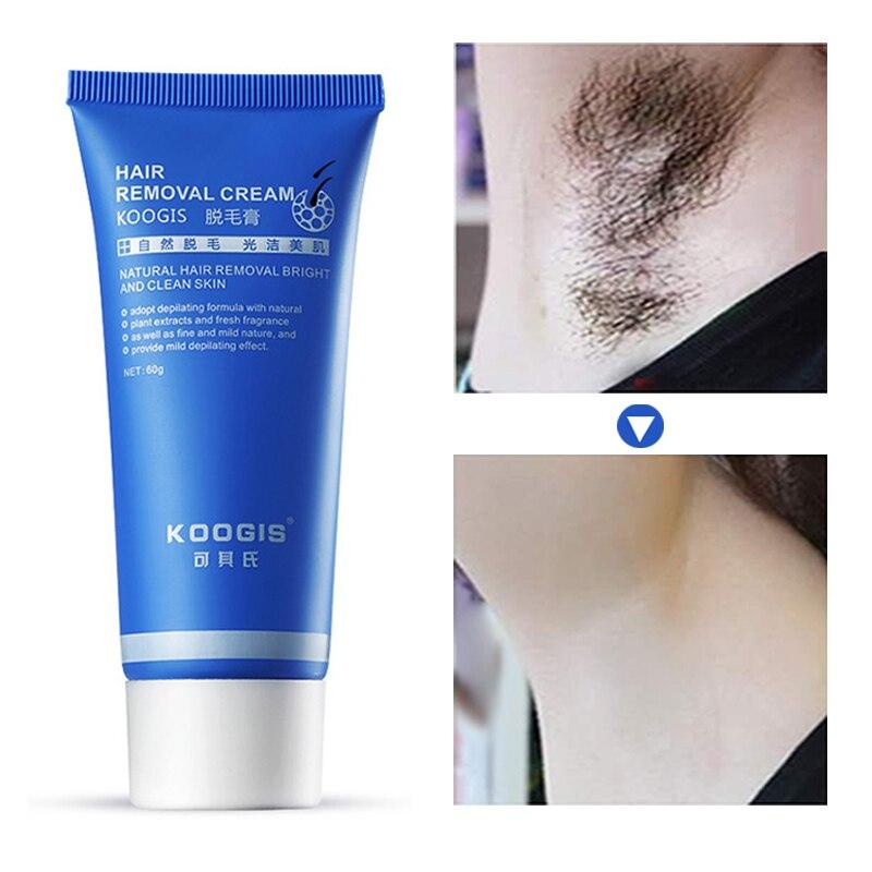 KOOGIS Natürlichen Flawless Haar Entferner Körper Bein Gesichts Haar Entfernung Creme Schmerzlos Enthaarung Creme Helle Saubere Haut