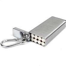 Moda przenośny papieros metalowa obudowa i popielniczka brelok kieszeń na zewnątrz wilgoć odporny na papierośnica może przechowywanie papierosów