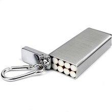 Mode Portable étui à cigarettes en métal et cendrier porte clés poche extérieure étanche à lhumidité boîte à cigarettes peut stockage de cigarettes
