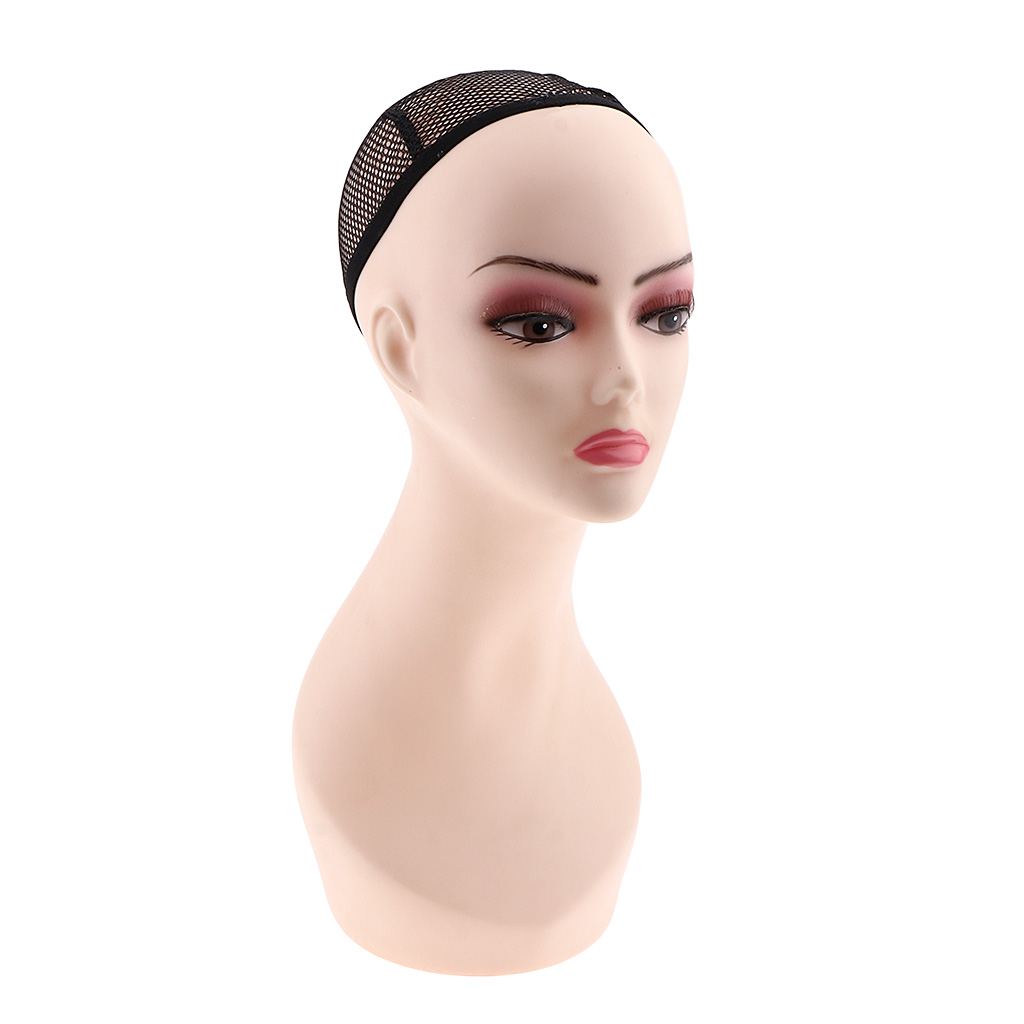 Female Mannequin Head Model Wig Making Stand Hat Rack Cap Sunglass Display Stand Training Head