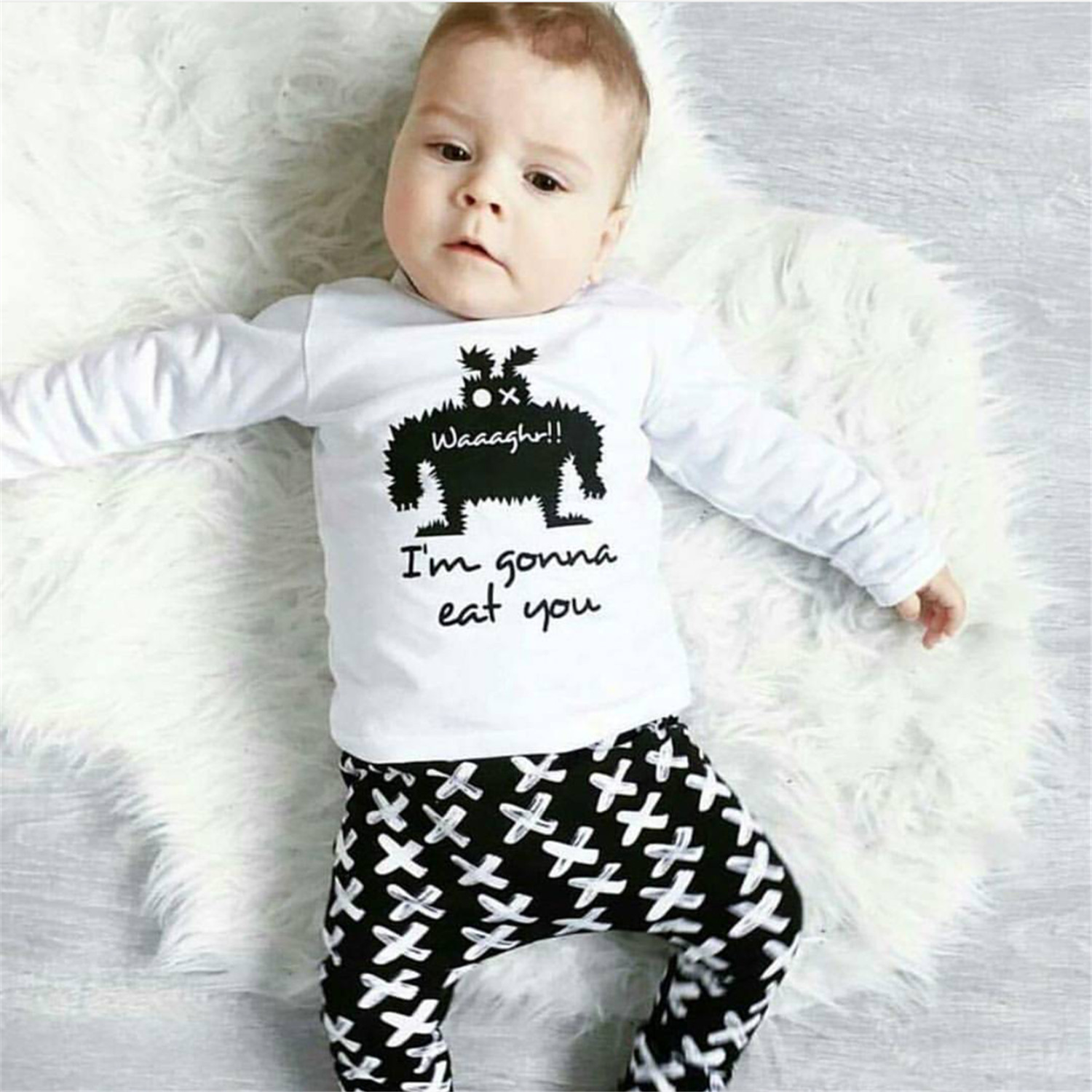 spring baby boys clothes 0 2 year Long sleeve Cartoon boys T shirt
