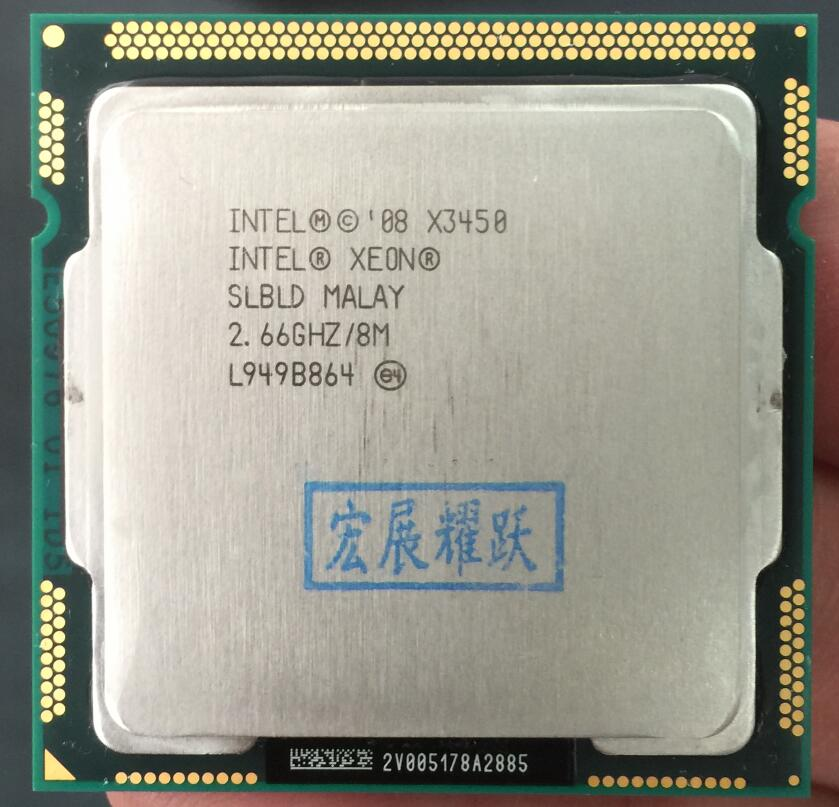 Intel Xeon PC X3450 Processador Quad-Core (8 3M Cache, 2.66 GHz)) LGA1156 Desktop Processador CPU 100% funcionando corretamente