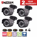 Tmezon 4 pack 1500tvl ahd 1.3mp 960 p cctv de bala de metal de seguridad para el hogar cámara de vigilancia al aire libre impermeable noche ir cut visión