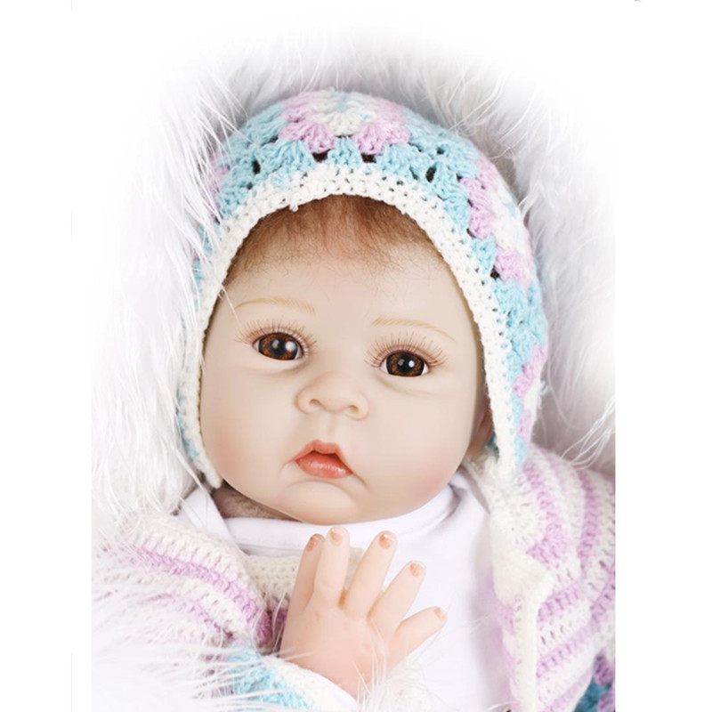 50 CM Silicone Reborn Dolls Newborn Doll Toys for Girl Gift,Lifelike Baby Reborn Doll Include Clothes and Hat hot newborn doll lifelike baby reborn doll with clothes fashion 37 cm cute silicone reborn dolls toys for children