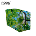 Luxury Realistic Forests Pattern Brand Cosmetic Bag Mixed Floral Travel Organizer Makeup Box Beauty Portable Woman Make Up Case
