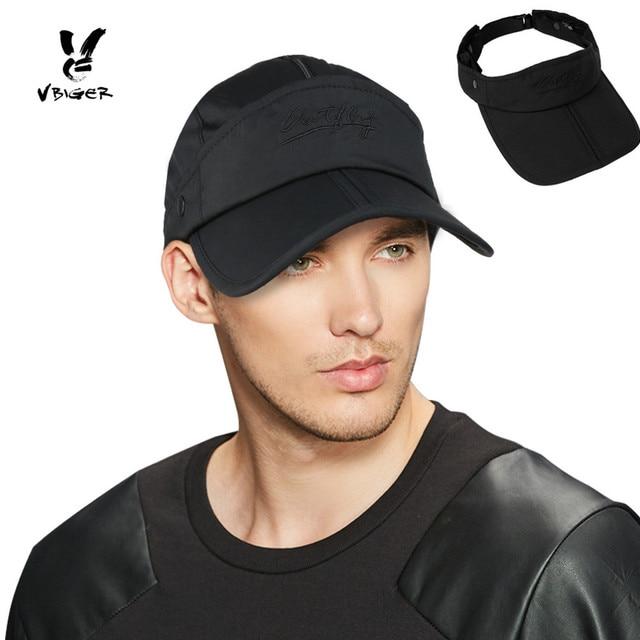 27b7bc664d5 Vbiger Men Women 2 in 1 Outdoor Sun Hat Baseball Hat Dual use Visor ...