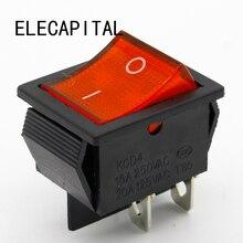 2 шт./лот красный 4 Pin светильник ВКЛ/ВЫКЛ Лодка Переключатель 250V 16A AC усилитель 125 V/20A