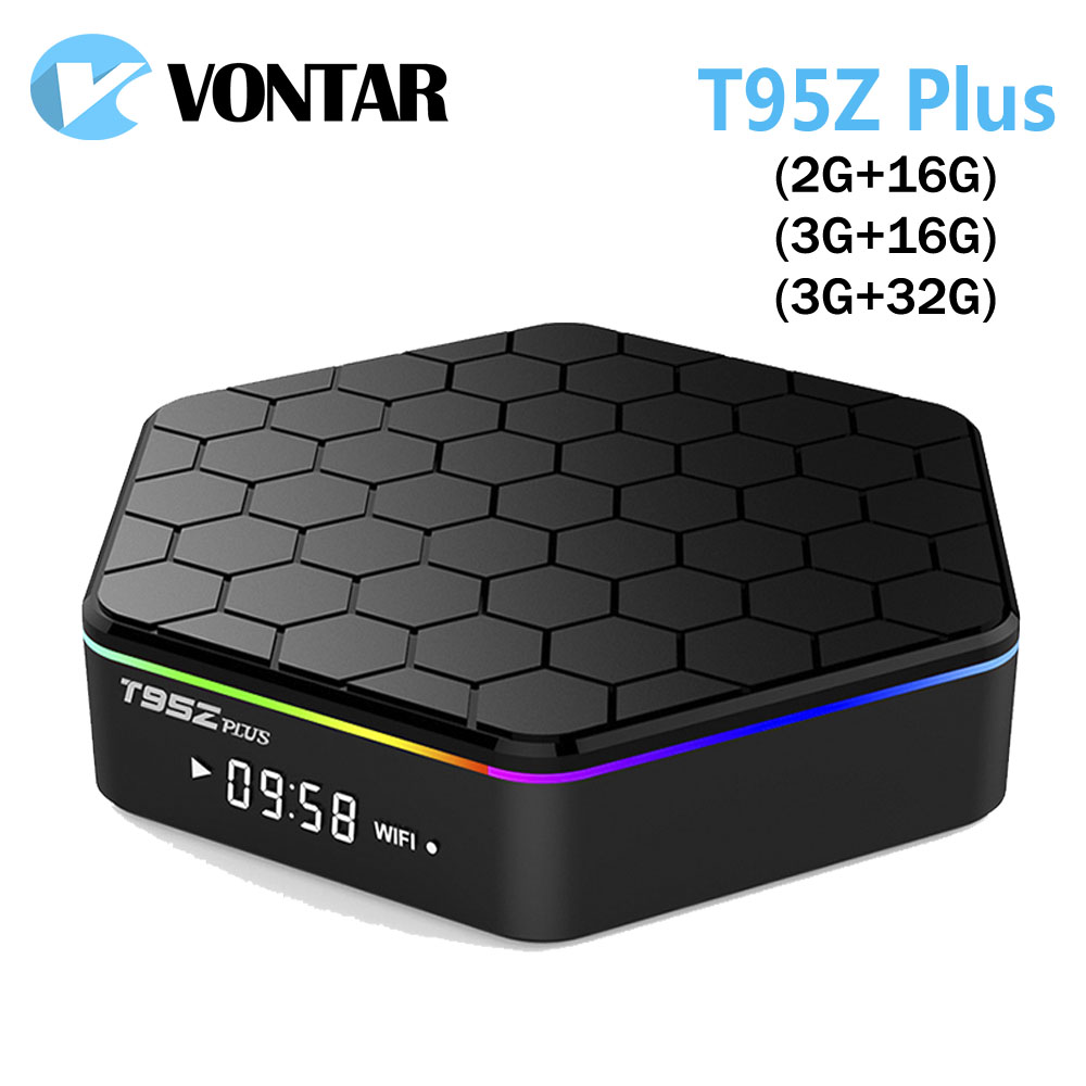 VONTAR T95Z Plus Smart Andorid TV BOX 7.1 OS Set top box 2GB 16GB 3GB 32GB Amlogic S912 Octa Core 2.4G/5GHz WiFi BT4.0 4K 10pcs vontar x92 3gb 32gb android 7 1 smart tv box amlogic s912 octa core cpu 2 4g 5g 4k h 265 set top box smart tv box