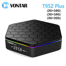 Vontar T95Z Plus Smart Android Tv Box 7.1 Os Set Top Box 2 Gb 16 Gb 3 Gb 32 Gb amlogic S912 Octa Core 2.4G/5 Ghz Wifi BT4.0 4K