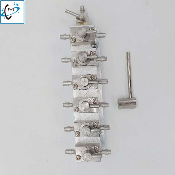 Large format printer Aprint gongzheng printhead cleaning 3 way cleaner valve units assembly (6 ways units) metal hand valve hot sales inkjet printer 3 way solenoid valve 24v for gongzheng printer