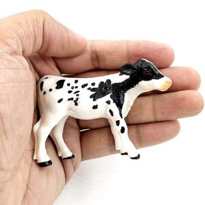 Image 2 - Trang Trại Gia Cầm Kawaii Mô Phỏng Mini Bò Sữa Bò Bò Bắp Chân Nhựa Mô Hình Động Vật Hình Đồ Chơi Nhân Vật Trang Trí Nhà Tặng trẻ Em
