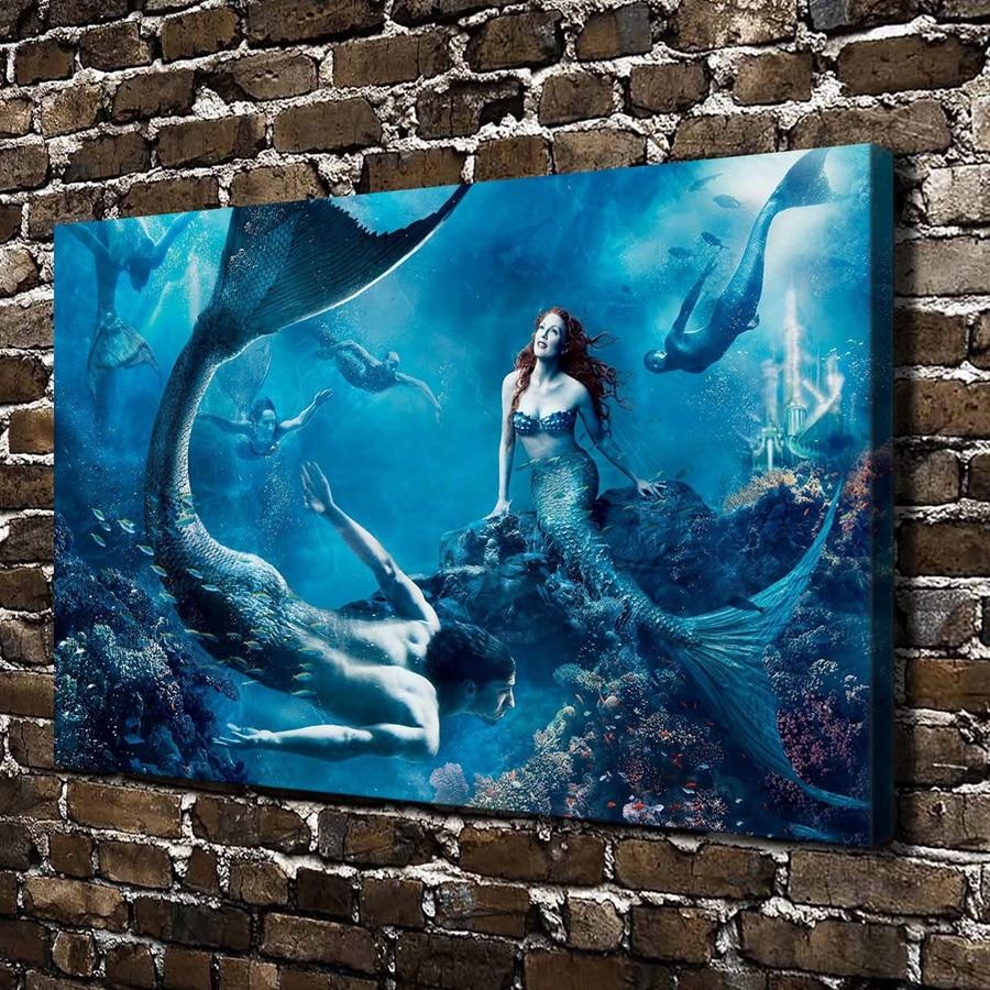 Mermaid Wall Art Painting