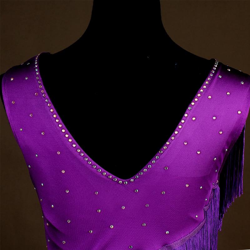 New Arrival Latin Dance Dress Women Girls Dance Clothes Tassel Salsa Samba Tango Ballroom Competition Costume Lady Dance Top