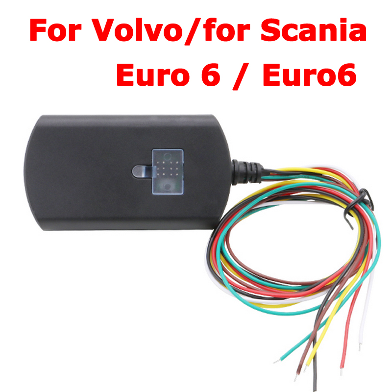 3Pcs/Lot via DHL For Scania Euro6 Adblue Emulator Truck Adblueobd2 For Volvo Euro 6 with NOX Sensor Support DPF System 2017 newest truck adblue emulator 8 in 1 super quality for mercedes man iveco daf volvo renault and f ord adblue emulator 8 in 1