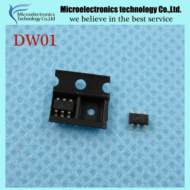 100PCS free shipping DW01 FS8205A FS8205 lithium battery protection IC (50PCS* DW01 +50PCS* FS8205A ) new original