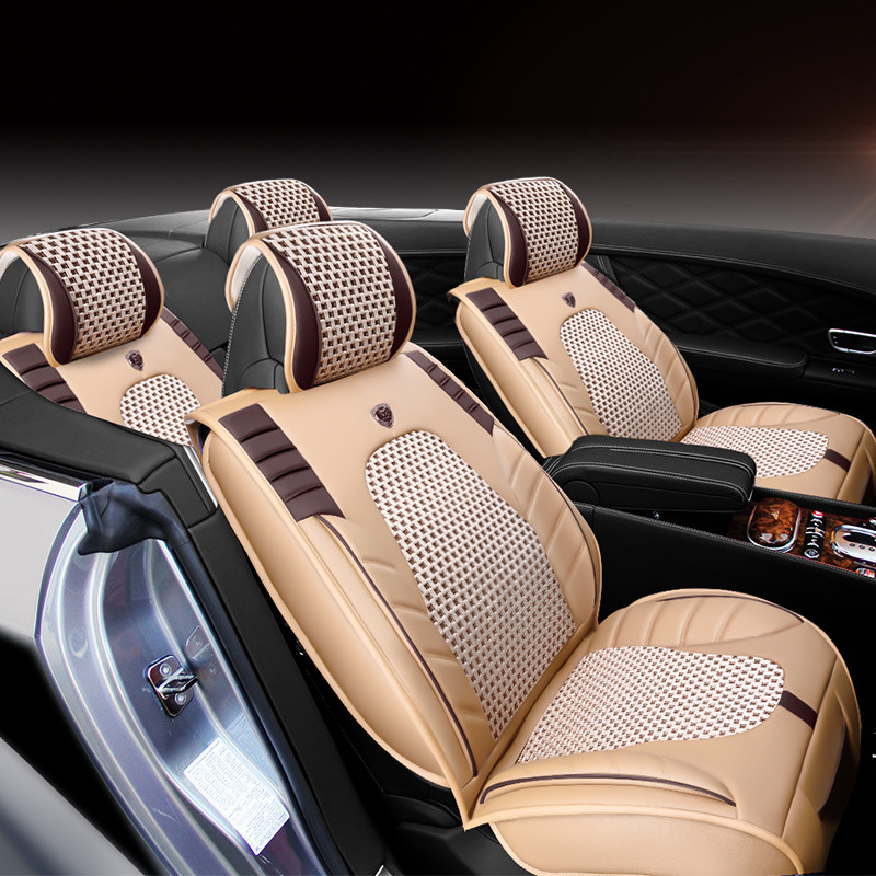 New 3D Styling Car Seat Cover Sports Styling,, Ice Silk Car Cushion For BMW Audi A3 A4 A6 Q7 Q5 Honda Ford CRV Sedan