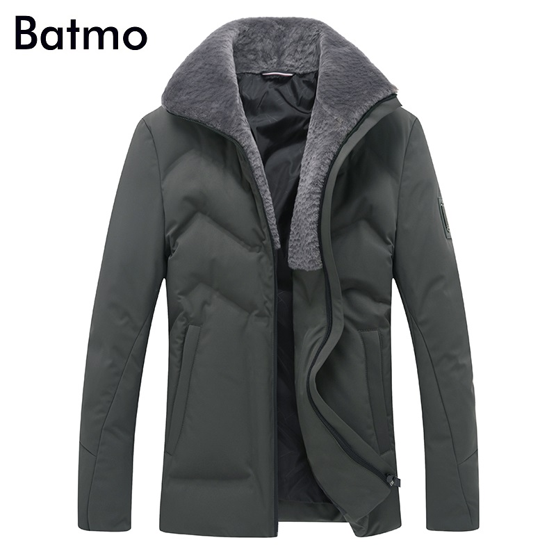 Batmo 2017 new arrival winter high quality white duck down jacket men,winter men's coat ,plus-size M,L,XL,XXL,XXXL 8089 free shipping hot 2015 new arrival fashion men winter plaid cotton padded coat jacket winter plus size high quality parka m xxxl