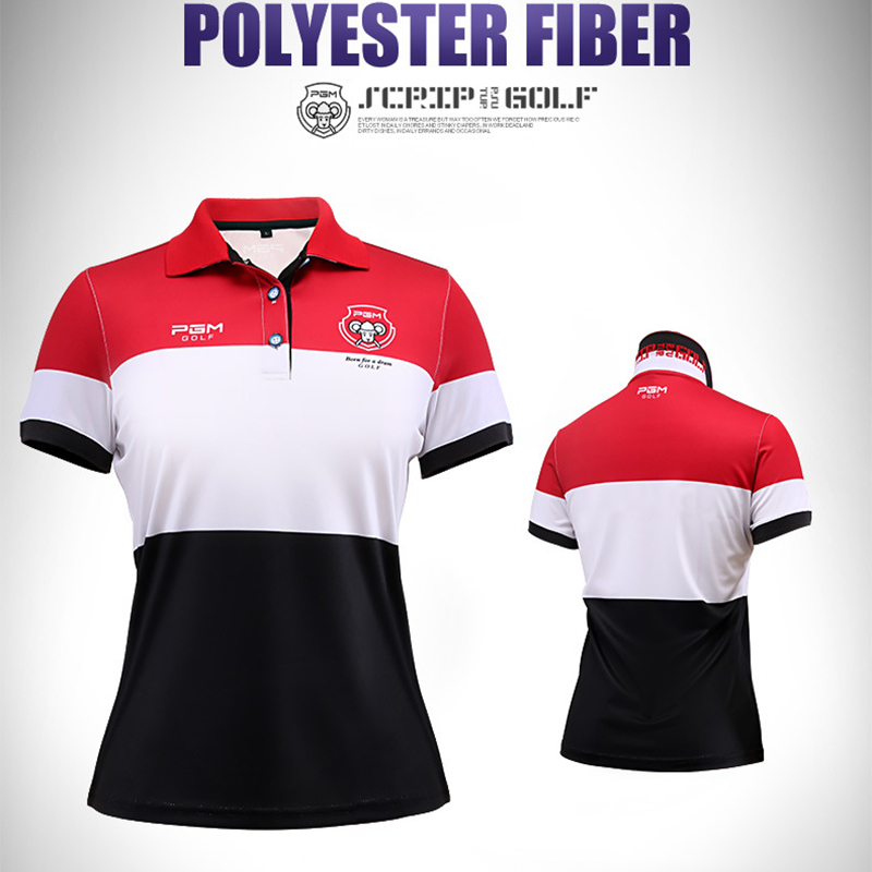PGM Brand Golf women clothing polo shirt brands 2018 high quality golf shirts short sleeve red soft ladiesdry fit Golf shirts XL ...
