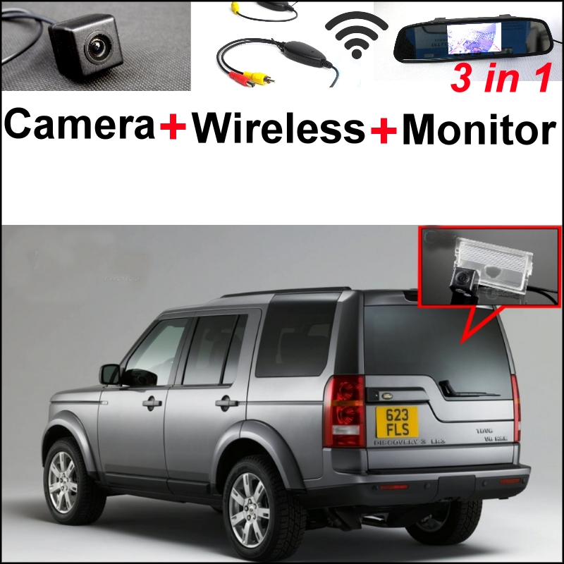 3in1 Special Rear View Camera + Wireless Receiver + Mirror Monitor DIY Parking System For Land For Rover Discovery 3/4 2005~2014 wireless pager system 433 92mhz wireless restaurant table buzzer with monitor and watch receiver 3 display 42 call button