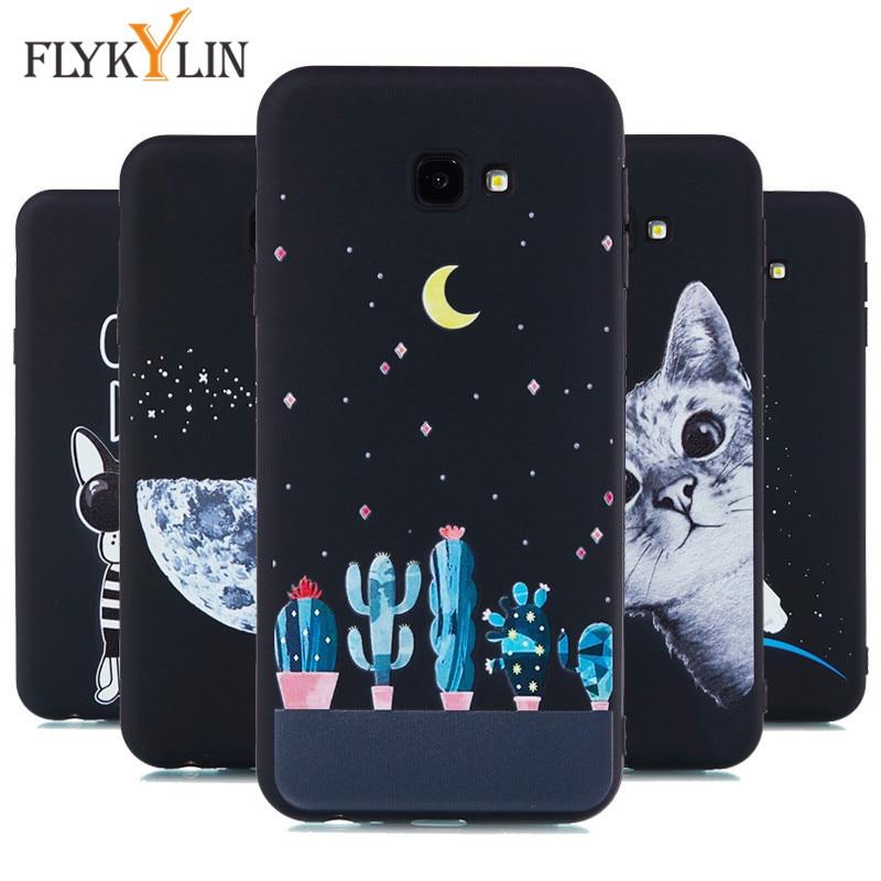 J4 J6 2018 Case For Coque Samsung Galaxy J4 J6 Plus case Black Soft Silicone Cover For Fundas Samsung Galaxy J4 2018 Phone Cases