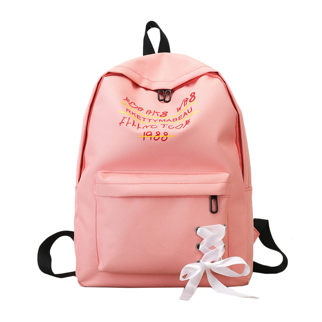 b010d2799e62 ... Gilrs Pink Color school bags backpack student bag college high school  bags for teenagers Fashion Frenate ...