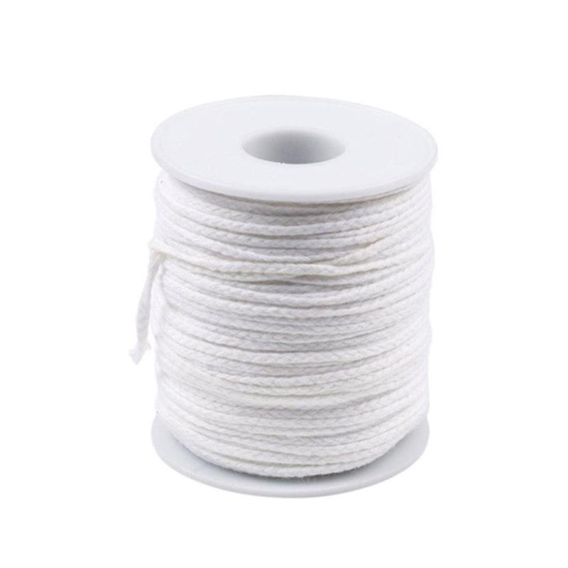 New 61m Cotton Spool Square Braid Candle Wicks Wick Core For DIY Candle Making Supplies Oil Lamps Candle Wicks