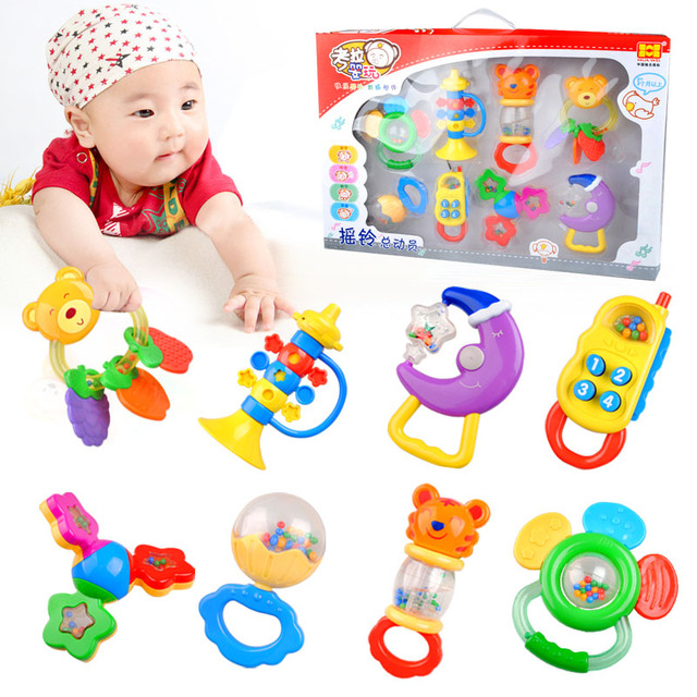 baby rattle newborn toy yakuchinone handbell infant 0 6 12. Black Bedroom Furniture Sets. Home Design Ideas