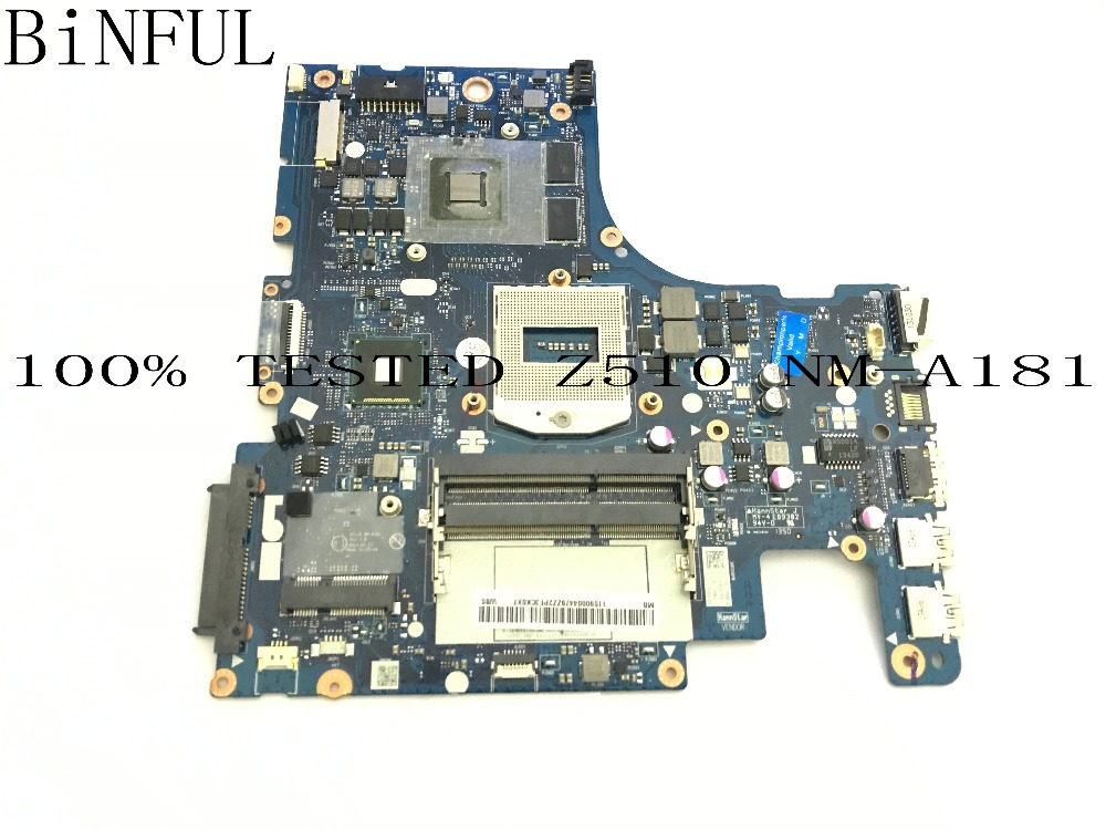 BiNFUL SUPER !! AILZA NM-A181 LAPTOP MOTHERBOARD SUITABLE FOR LENOVO Z510 NOTEBOOK PC GT740M 2GB