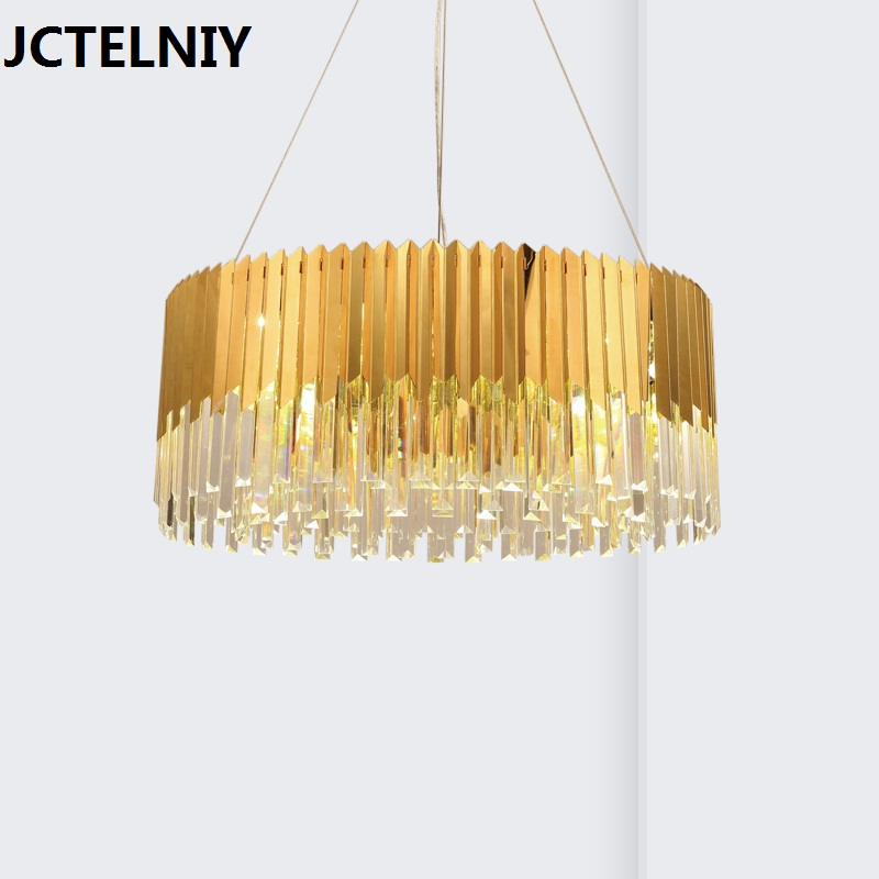 Brief crystal stick pendant light new classic lamp bar counter Size can be customized