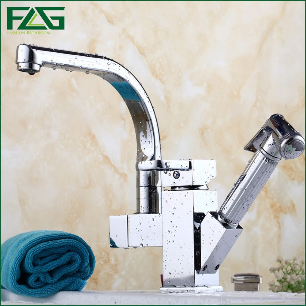 FLG Basin Faucet With Nozzle For Polishing Bidet Deck Mounted Prada Pull Out Chrome Cast 2 Toilette Wash Basin Mixer Tap M060 1pc white or green polishing paste wax polishing compounds for high lustre finishing on steels hard metals durale quality