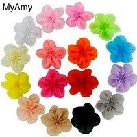 MyAmy großhandel (200 teile/los) DIY 2,5 Zoll einzel blumen mädchen haarschmuck boutique haar blumen für kinder Kostenloser Versand
